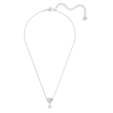 Lifelong Heart-hanger, Wit, Rodium-verguld - Swarovski, 5517928