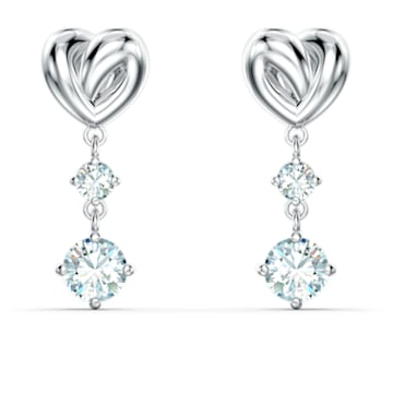 Lifelong Heart Ohrringe, weiss, rhodiniert - Swarovski, 5517943