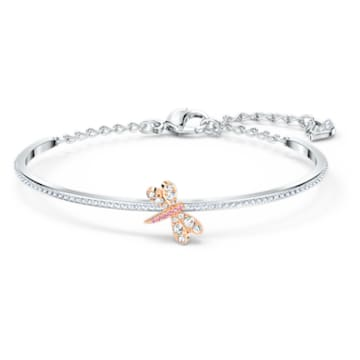 Eternal Flower Armreif, rosa, Metallmix - Swarovski, 5518138