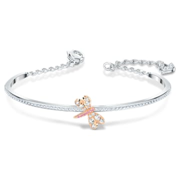 Bracelet-jonc Eternal Flower, rose, finition mix de métal - Swarovski, 5518138