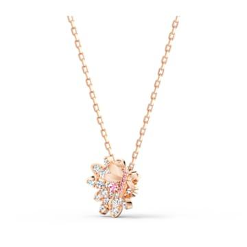 Set Eternal Flower Dragonfly, rosa, placcato color oro rosa - Swarovski, 5518141