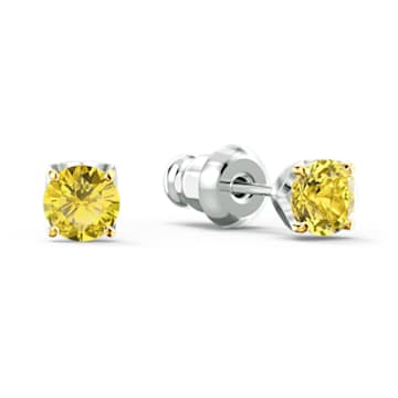 Eternal Flower 套装, 黄色, 多种金属润饰 - Swarovski, 5518146