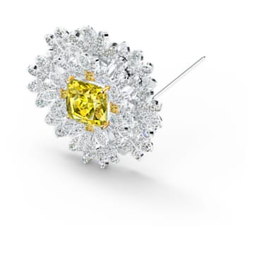 Eternal Flower Брошь, Желтый Кристалл, Отделка из разных металлов - Swarovski, 5518147