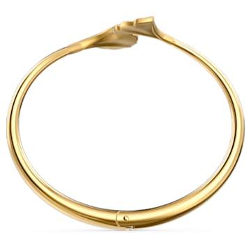 Bracciale rigido Stunning Gingko, bianco, placcato color oro - Swarovski, 5518170