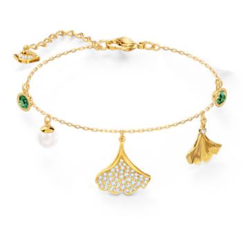 Bracelet Stunning Gingko, vert, métal doré - Swarovski, 5518173