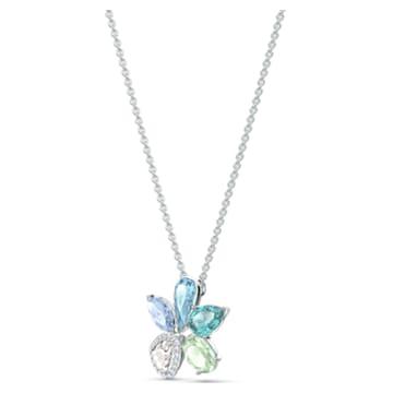 Collier Sunny, multicolore clair, métal rhodié - Swarovski, 5518414