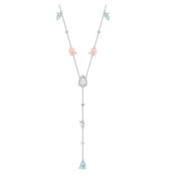 Collier en Y Sunny, multicolore clair, métal rhodié - Swarovski, 5518415