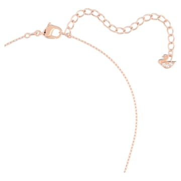Swarovski Infinity necklace, Infinity and heart, White, Mixed metal finish - Swarovski, 5518865