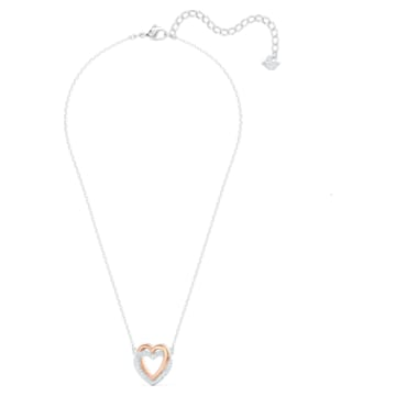 Swarovski Infinity 项链, 心形, 白色, 多种金属润饰 - Swarovski, 5518868