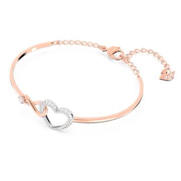 Bracciale rigido Swarovski Infinity Heart, bianco, mix di placcature - Swarovski, 5518869