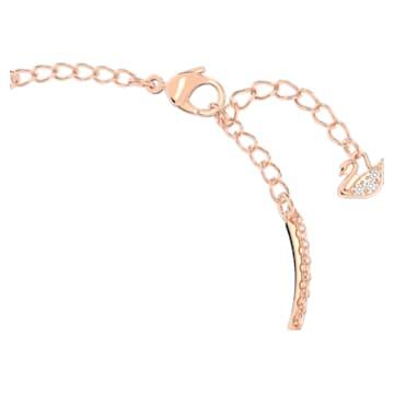 Bransoletka typu bangle Swarovski Infinity, biała, w odcieniu różowego złota - Swarovski, 5518871