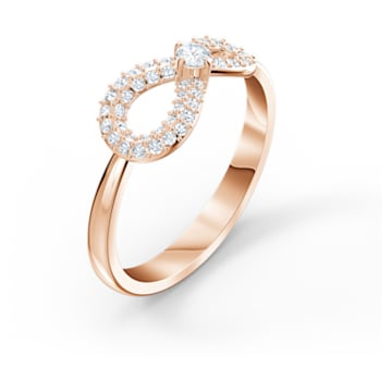Swarovski Infinity Ring, White, Rose-gold tone plated - Swarovski, 5518873