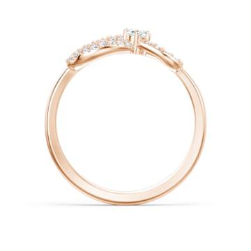 Δαχτυλίδι Swarovski Infinity, λευκό, επιχρυσωμένο σε χρυσή ροζ απόχρωση - Swarovski, 5518873