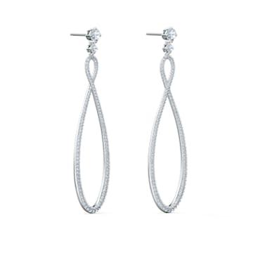 Créoles Swarovski Infinity, blanc, métal rhodié - Swarovski, 5518878