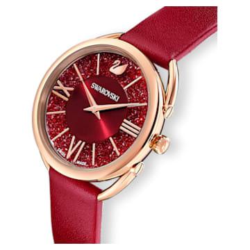 Crystalline Glam karóra, bőrszíj, piros, rozéarany árnyalatú PVD - Swarovski, 5519219