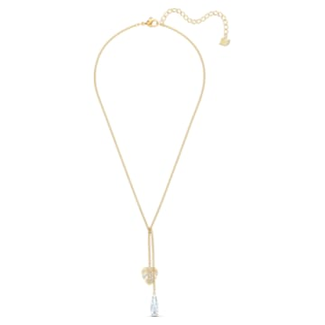 Tropical 項鏈, 白色, 鍍金色色調 - Swarovski, 5519249