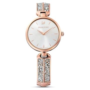 Dream Rock Uhr, Metallarmband, silberfarben, rosé vergoldetes PVD-Finish - Swarovski, 5519306