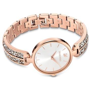 Hodinky Dream Rock, s kovovým páskem, stříbrné, PVD v odstínu růžového zlata - Swarovski, 5519306