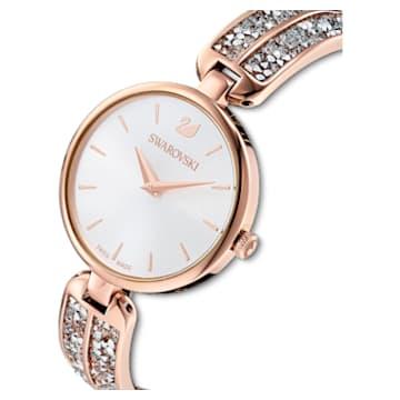 Dream Rock 腕表, 金属手链, 银色, 玫瑰金色调 PVD - Swarovski, 5519306