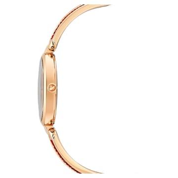 Dream Rock-horloge, Metalen armband, Rood, Roségoudkleurig PVD - Swarovski, 5519312