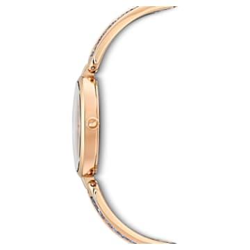 Reloj Dream Rock, brazalete de metal, azul, PVD tono oro rosa - Swarovski, 5519317
