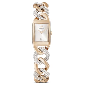Zegarek Cocktail, Metalowa bransoletka, W odcieniu złota, Powłoka PVD w odcieniu szampańskiego złota - Swarovski, 5519321