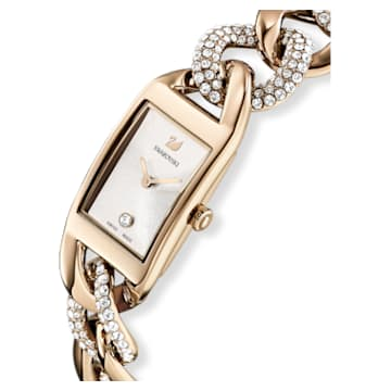 Montre Cocktail, Bracelet en métal, Ton doré, PVD doré champagne - Swarovski, 5519321