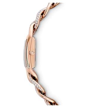 Cocktail watch, Metal bracelet, Rose gold tone, Rose-gold tone PVD - Swarovski, 5519327