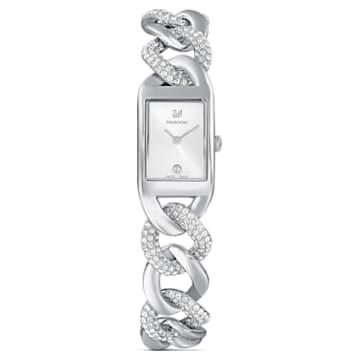 Cocktail 腕表, 全密镶, 金属手链, 银色, 不锈钢 - Swarovski, 5519330