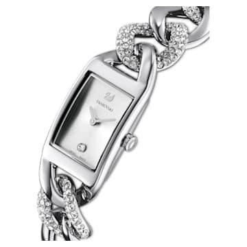 Cocktail 手錶, 全面密鑲, 金屬手鏈, 銀色, 不銹鋼 - Swarovski, 5519330
