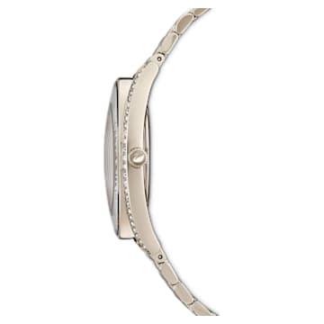 Crystalline Aura 手錶, 金屬手鏈, 金色, 香檳金色色調PVD - Swarovski, 5519456