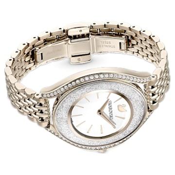 Montre Crystalline Aura, bracelet en métal, ton doré, PVD doré champagne - Swarovski, 5519456