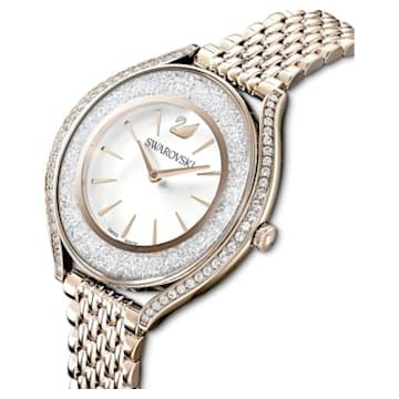Crystalline Aura Uhr, Metallarmband, Goldfarben, Champagne-vergoldetes PVD-Finish - Swarovski, 5519456