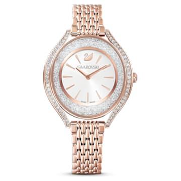 Crystalline Aura-horloge, Metalen armband, Roségoudkleurig, Roségoudkleurig PVD - Swarovski, 5519459