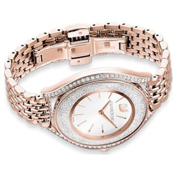 Crystalline Aura Uhr, Metallarmband, Roséfarben, Roségoldfarbenes PVD-Finish - Swarovski, 5519459