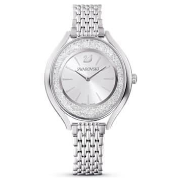 Ceas Crystalline Aura, Nuanță argintie, Oțel inoxidabil - Swarovski, 5519462