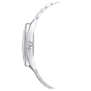 Crystal Aura-horloge, Metalen armband, Zilverkleurig, Roestvrij staal - Swarovski, 5519462
