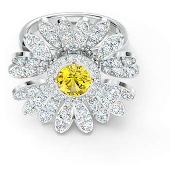 Anel Eternal Flower, amarelo, acabamento em vários metais - Swarovski, 5520366