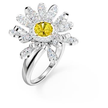 Inel Eternal Flower, galben, finisaj metalic mixt - Swarovski, 5520366