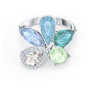 Sunny Ring, Light multi-coloured, Rhodium plated - Swarovski, 5520491
