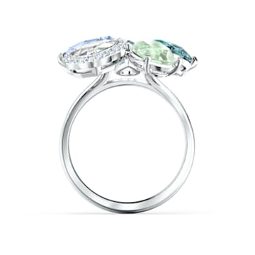 Sunny Ring, Light multi-colored, Rhodium plated - Swarovski, 5520491