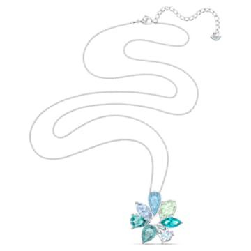 Sunny Flower 鏈墜, 淺色漸變, 鍍白金色 - Swarovski, 5520492
