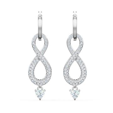 Boucles d'oreilles Swarovski Infinity, blanc, métal rhodié - Swarovski, 5520578