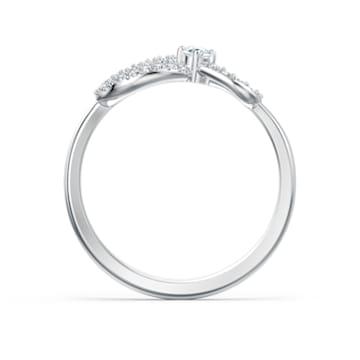 Inel Swarovski Infinity, alb, placat cu rodiu - Swarovski, 5520580
