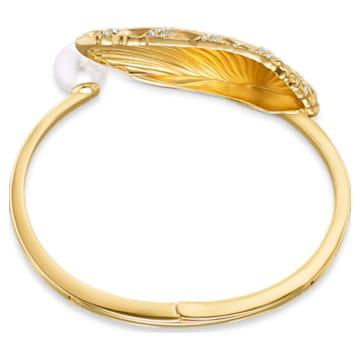 Shell cuff, Shell, Multicolored, Gold-tone plated - Swarovski, 5520665