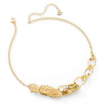 Shell Halskette, Muschel, Mehrfarbig, Goldlegierung - Swarovski, 5520667
