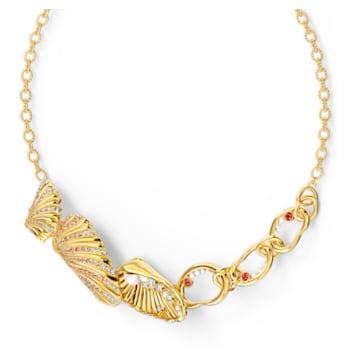 Collar Shell, Caracola, Multicolor, Baño tono oro - Swarovski, 5520667