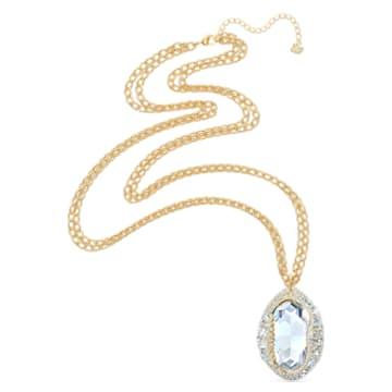 Pendente Shell, Conchiglia, Bianco, Placcato color oro - Swarovski, 5520668