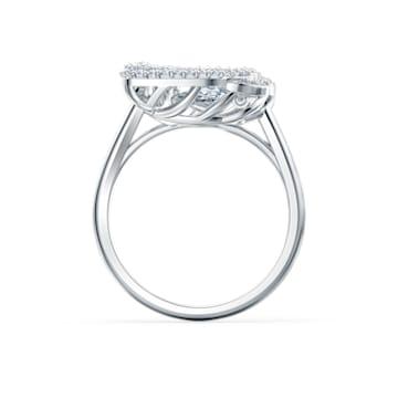 Bague Dancing Swan, blanc, métal rhodié - Swarovski, 5520712