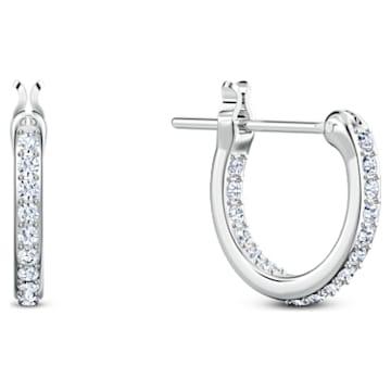 Line Friends Pierced Earrings, Light multi-colored, Rhodium plated - Swarovski, 5520767